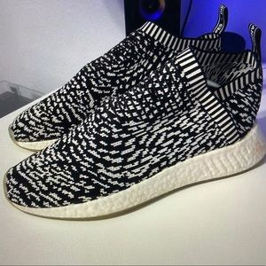 Black and White Adidas NMD CS2 Sneakers